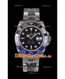 Rolex GMT Masters II 126710BLNR Batman Movimiento Cal.3186 Réplica Suizo - Reloj de Acero 904L Ultimate