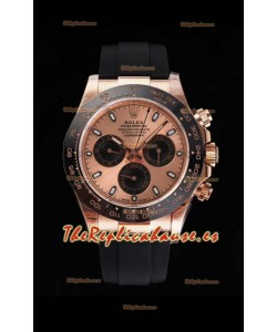 Rolex Daytona 116515LN Movimiento Original Cal.4130 Oro Everose - Reloj de Acero 904L a Espejo 1:1