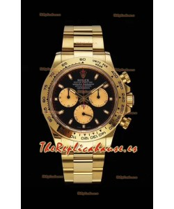 Rolex Daytona 116508 Movimiento Original Cal.4130 - Reloj de Acero 904L a espejo 1:1 Oro Amarillo