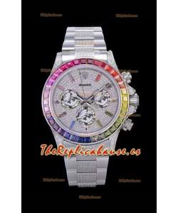 Rolex Daytona ICED OUT Caja de Acero 904L Movimiento Original Cal.4130 - Reloj Réplica a Espejo 1:1