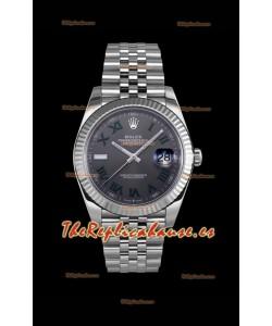 Rolex Datejust Wimbledon Reloj Movimiento Suizo Cal.3235 - Acero 904L 41MM