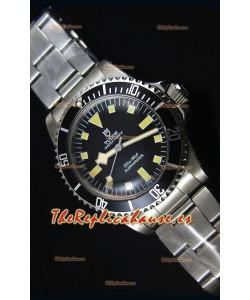Tudor Oyster Prince Vintage 200M Dial Negro Marcadores en forma de Cuadrados Reloj Replica Suizo a espejo 1:1
