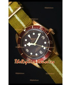 Tudor Heritage Bay Reloj Replica Suizo en Bronce con Correa NATO