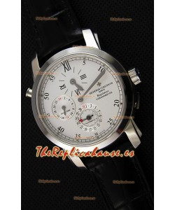 Vacheron Constantin Malte Dual Time Regulator Reloj Réplica Suizo de Acero