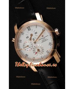 Vacheron Constantin Malte Dual Time Regulator Reloj Réplica Suizo Oro Rosa
