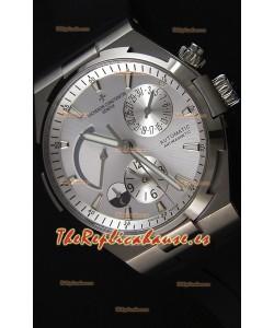 Vacheron Constantin Overseas Dual Time Steel White Dial Reloj Réplica Suizo
