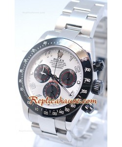 Reloj Suizo Rolex Project X Daytona Edición Limitada Series II Cosmógrafo MonoBloc Cerachrom con Esfera Blanca