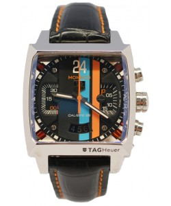 Tag Heuer Monaco Concept 24 Reloj Suizo con Esfera de color Negro y Caja de Acero
