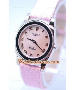 Rolex Celleni Cestello Reloj Suizo Señoras Todo Penk Romano